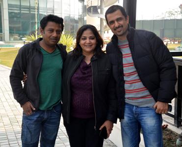With Onir & Itshree Misra