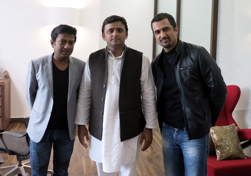 With the Hon'ble CM of U.P Shri Akhilesh Yadav